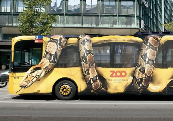 Copenhagen Zoo innovative 3D bus design